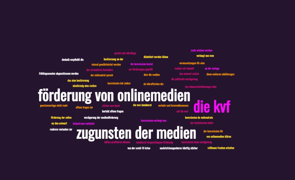 Medienförderungs-Paket: Einige Mitglieder der KVF setzen auf Verzögerungstaktik